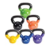 Body-Solid Vinyl Coated Kettle Bell Set, 70 lbs