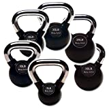 Body-Solid KBCS105 Chrome Handle, Rubber Kettle Bell Set One Each 5-30
