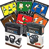 Stack 52 Kettlebell Exercise Cards Duo Pack. Kettlebell Workout Playing Card Game. Video Instructions Included. Learn Kettle Bell Moves and Conditioning Drills. Home Fitness Training Program.