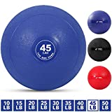 Weighted Slam Ball by Day 1 Fitness – 45 lbs - No Bounce Medicine Ball - Gym Equipment Accessories for High Intensity Exercise, Functional Strength Training, Cardio, CrossFit