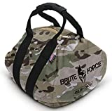Brute Force Kettlebells: Adjustable Kettlebell in Camo, The Perfect Workout Equipment for Home + Crossfit Equipment, Sandbag Training with Sand Kettlebells