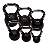 Body-Solid Chrome Handle Kettlebell Set, 5-30 Pounds